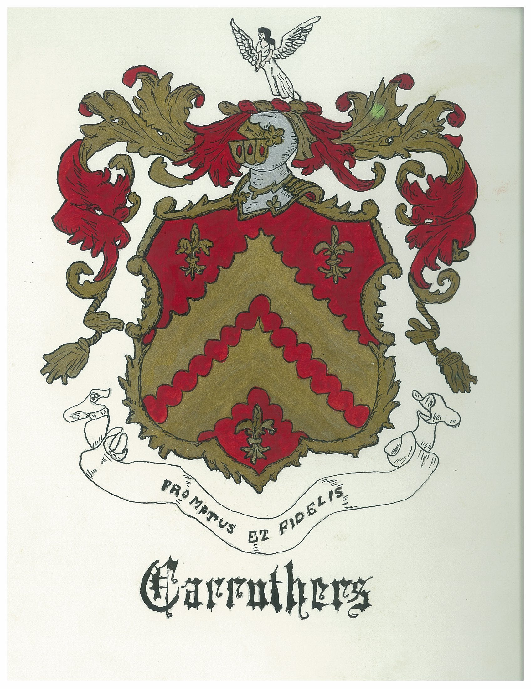 Coat Of Arms Shield Charges Crest Motto Carruthers